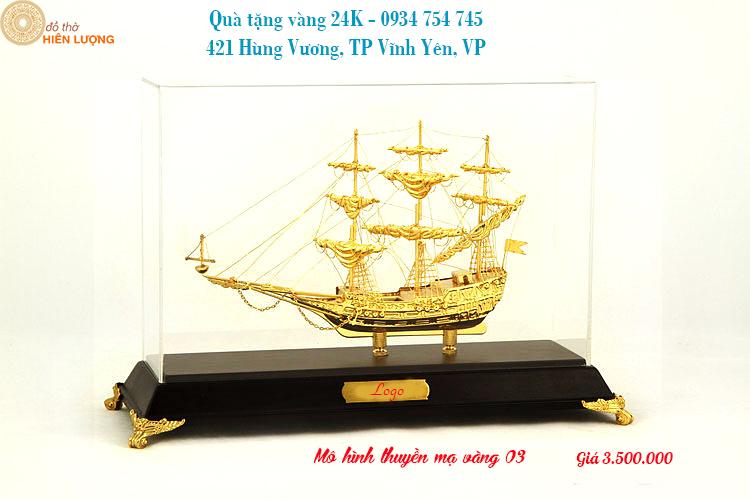 Mô Hình Thuyền Buồm - Thuận Buồm Xuôi Gió Mạ Vàng 24K- Quà Tặng Sếp Độc Đáo Và Sang Trọng nhân dịp Sinh nhật, về nhà mới, lên chức - Hotline: 0934.754.745