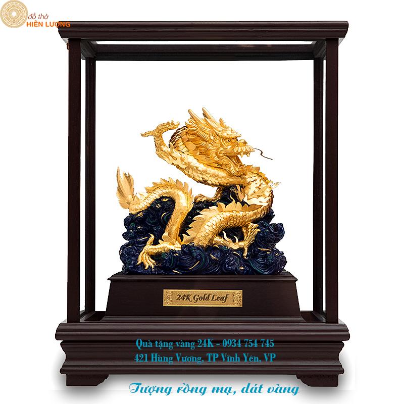 Linh vật tượng rồng dát vàng--Quà tặng doanh nghiệp