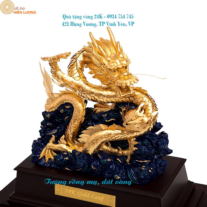 Linh vật tượng rồng dát vàng-Quà tặng doanh nghiệp