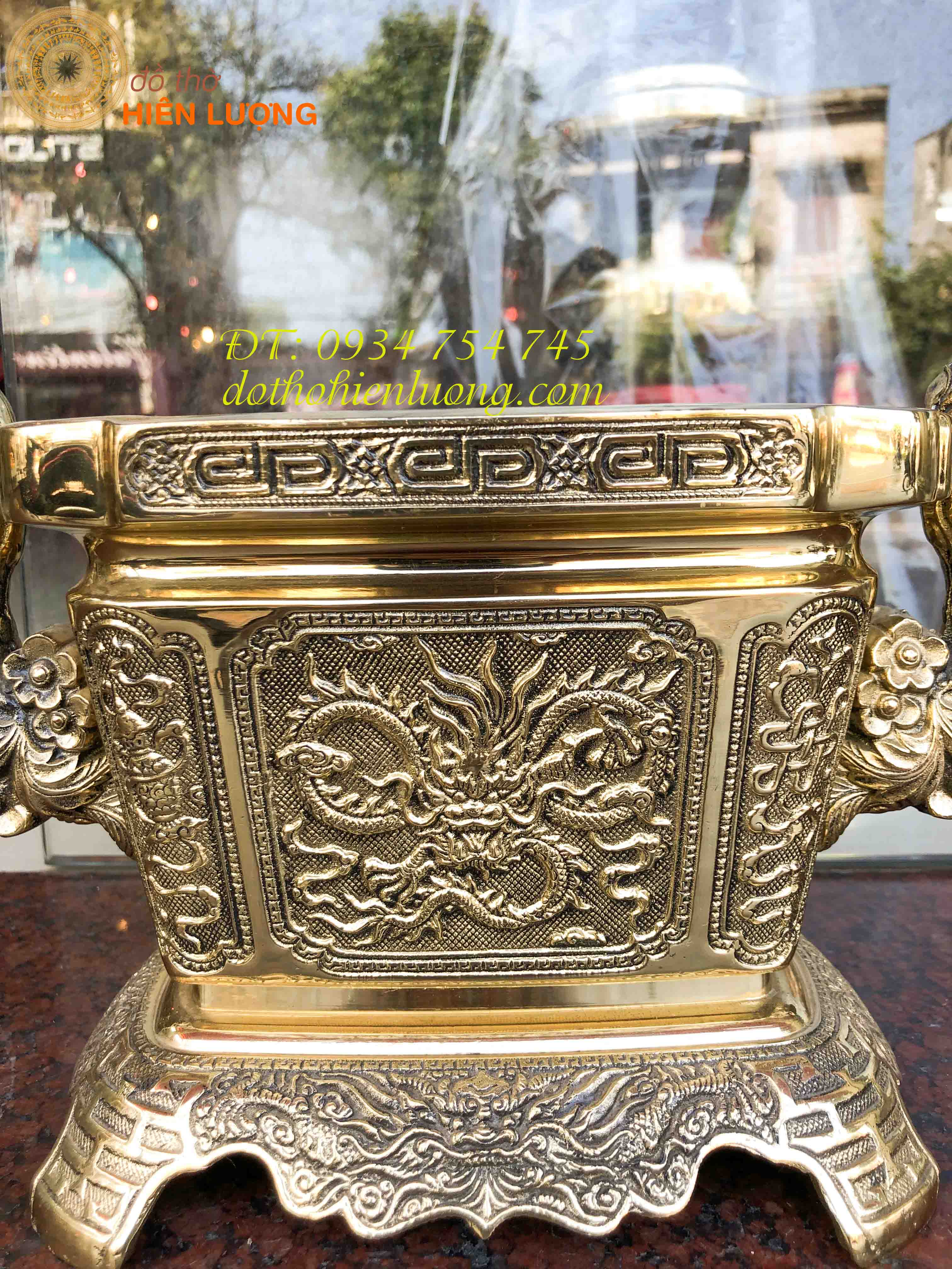 Bát Hương Vuông Tai Rồng