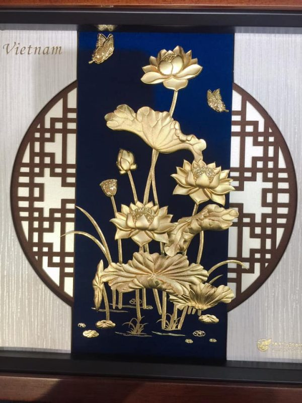 Tranh Hoa Sen Dát Vàng