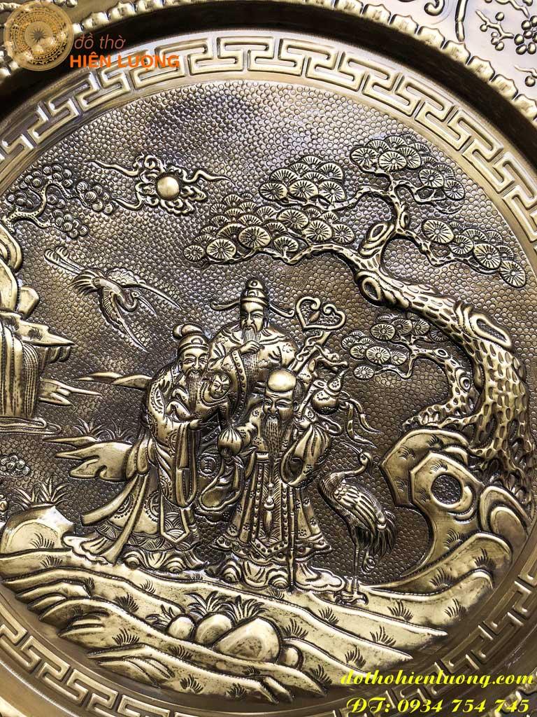 Mâm Đồng Phúc-Lộc-Thọ Giả Cổ