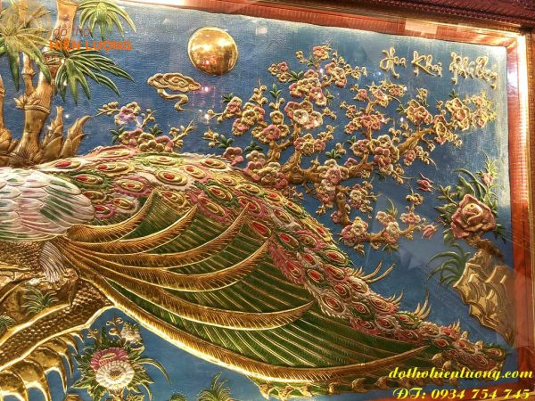 Tranh Đồng Hoa Khai Phú Quý