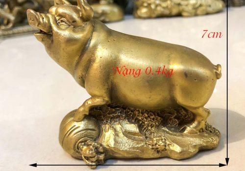 Tượng lợn tài lộc bằng đồng