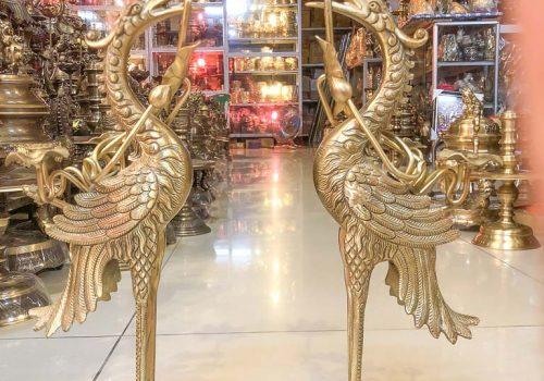 Đôi Hạc Sen Bằng Đồng