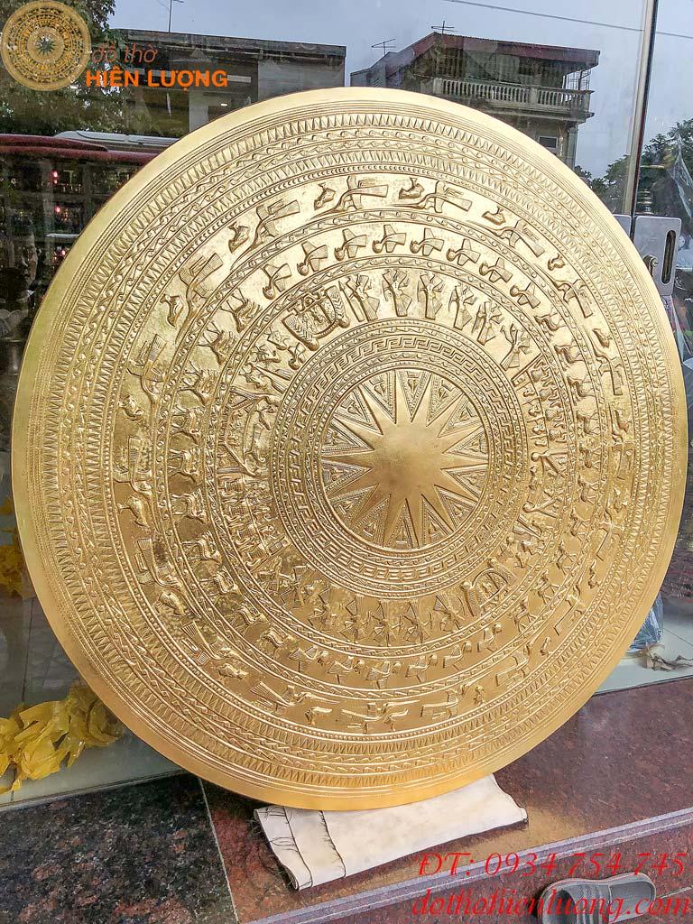 Mặt trống đồng 1m2 mạ vàng