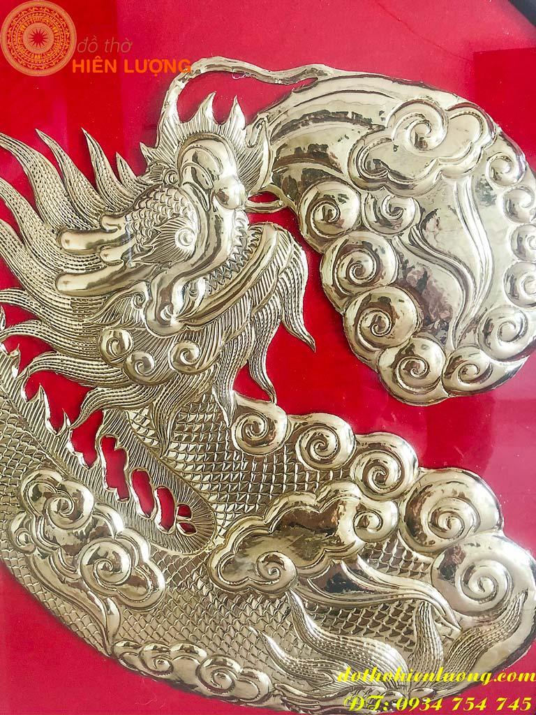 Tranh chữ Tâm Bằng Đồng hóa rồng đẹp