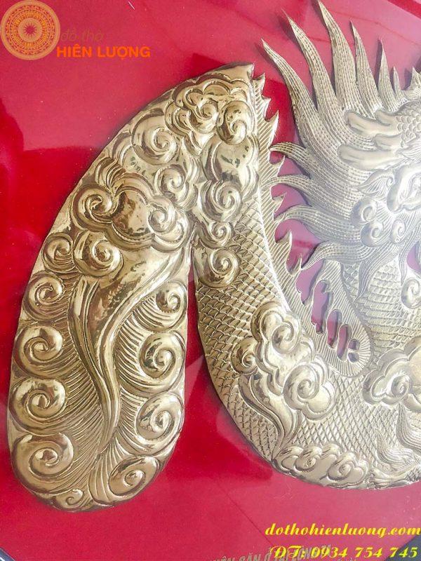 Tranh chữ Tâm Bằng Đồng hóa rồng hoa văn sắc nét