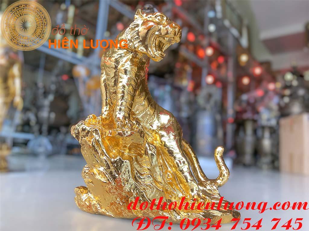 Tượng Hổ Dát Vàng 24K-Quà tặng doanh nghiệp
