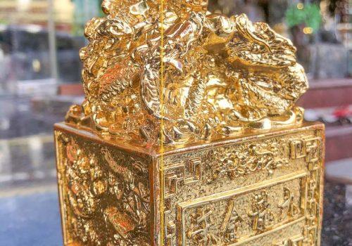 Ấn rồng mạ vàng 24K