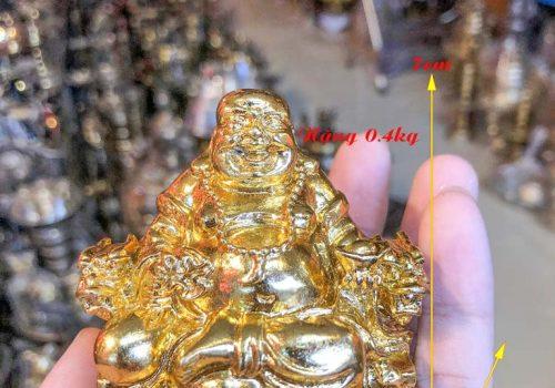 Phật di lặc mạ vàng để oto
