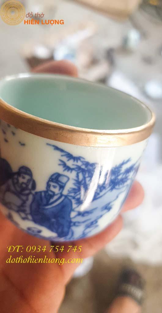 Ép viền đồng cốc chén