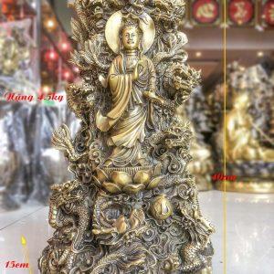 Tượng Phật Bà Cửu Long Bằng Đồng