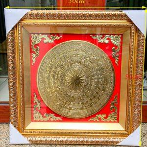 Tranh Trống Đồng Mạ Vàng 50x50